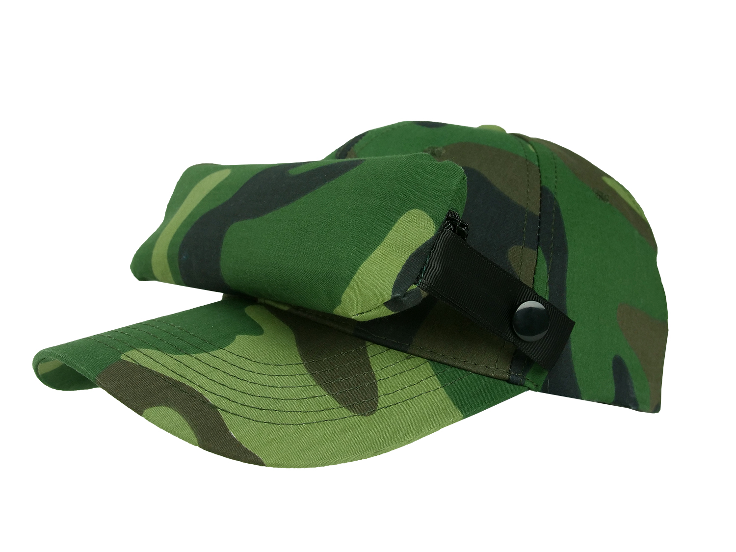 Bug Cap_Camouflage Green